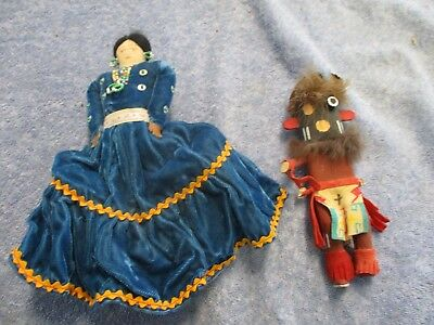 Couple of vintage Native American dolls from estate