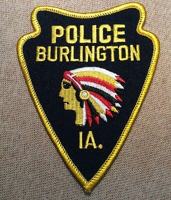 IA Burlington Iowa Police Patch