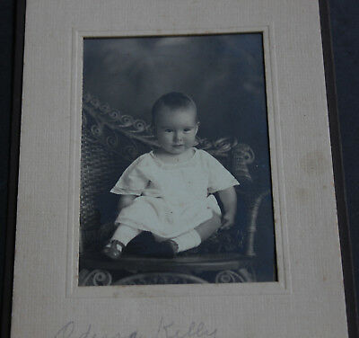 Antique Original American Early 20th Century Photograph Beautiful Baby