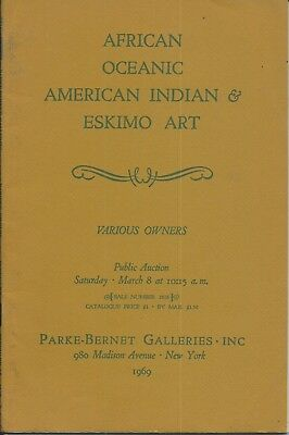 PARKE BERNET AFRICAN OCEANIC AMERICAN INDIAN ESKIMO ART Catalog 1969 + RESULTS