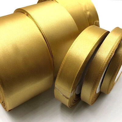 Gold Single Face Satin Ribbon Wholesale Gift Wrapping Christmas ribbons 104