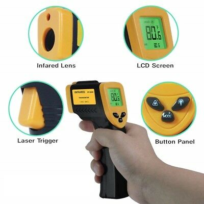 Temperature Gun Digital Thermometer Non-Contact Laser Infrared Temp Meter 716℉