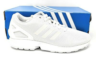 7a97430830a0b Adidas ZX FLUX Men s Sneakers  S79093 All White Medium Running Sneaker
