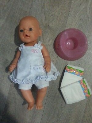 Zapf 2006 Baby Born. Great Condition. Baby Born outfit and Baby Born Potty.