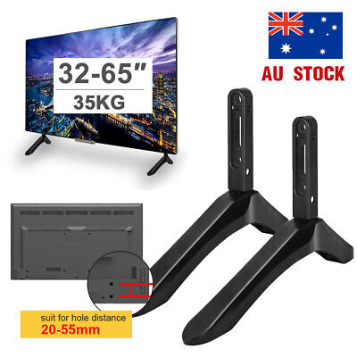 "Universal Table Top TV Pedestal Stand Base fit 32-65"" For Sharp Samsung TCL Sony"