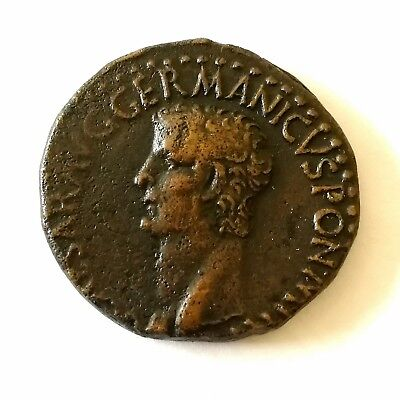 Caligula Roman As - Vesta Type RIC 38