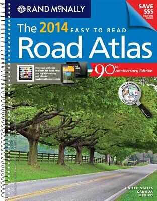The Rand McNally Easy to Read Road Atlas by Rand McNally and Company Book The