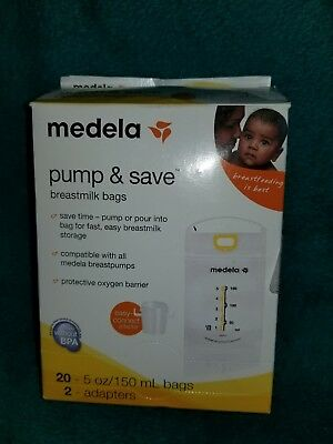 Medela Pump and Save Breastmilk Bags 20 Count
