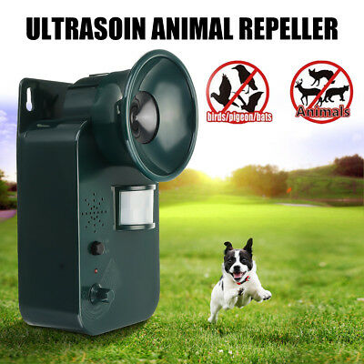 Ultrasonic Cat Dog Fox Mic Mouse Rates Mosquitos Pest Repeller Scarer Deterrent