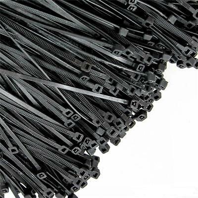 "1000 PCS Pack 6"" Inch Black Network Zip Nylon Cable Cord Wire Tie Strap Pop SM"