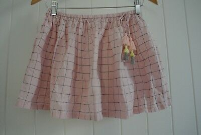 designer kids Country Road Girls Skirt SZ 10 Grid Stylish Tassel Winter Summer