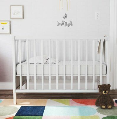 "Novogratz Nest 5"" Crib and Toddler Mattress"