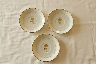 3 Fine China Golden anniversary Rose Berry Bowls made in Japan