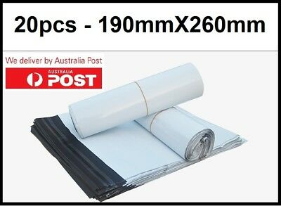 20X Poly Mailer Courier 190X260mm Self-Sealing Plastic Shipping Satchel Post Bag