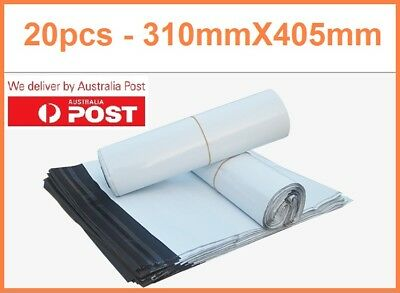 20X Poly Mailer Courier 310X405mm Self-Sealing Plastic Shipping Satchel Post Bag