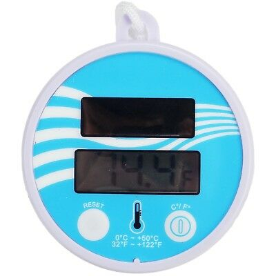 """5.5"""" Solar Powered Floating Digital Swimming Pool/Spa Thermometer with Cord -"""