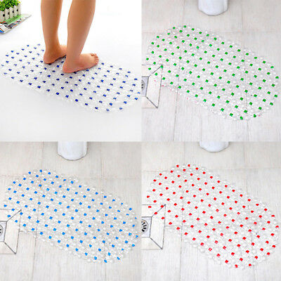 Extra Large PVC Soft Cushioned Non Slip With Suction Cups Bath Shower Mat