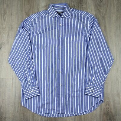 Vintage Mens Burberry London Long Sleeve Striped Evening Dress Shirt 42 Nova