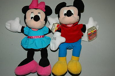 Disney Mickey For Kids Star Bean Bags Mickey & Minnie Mouse NWT & Protect Cover