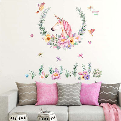 A-Level  60 * 90CM Unicorn Horse Wall Sticker Animal Stickers Home Decoration SM
