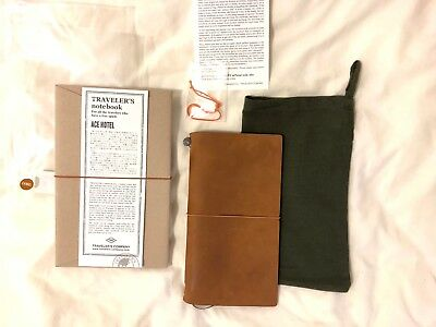 (Used) Midori Traveler's Notebook Ace Hotel Edition, Camel, Excellent Condition