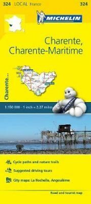 Charente, Charente-Maritime - Michelin Local Map 324 Map 9782067210363