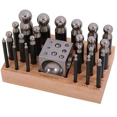 Neilsen 25pc Steel Doming Block and Punch Set CT4304