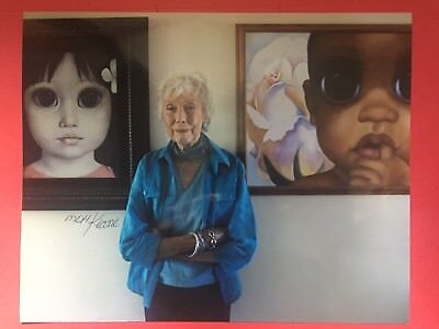 One Original Margaret Keane with her signature. COA provided. Autograph
