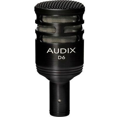 Audix D6 Pro Kick Drum and Low End Bass Microphone, New!