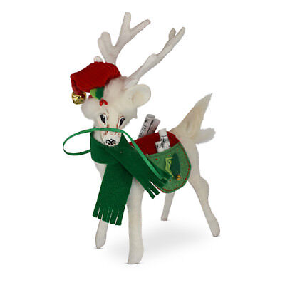 Annalee Dolls 8in 2018 Christmas Jinglebell Reindeer Plush New with Tags