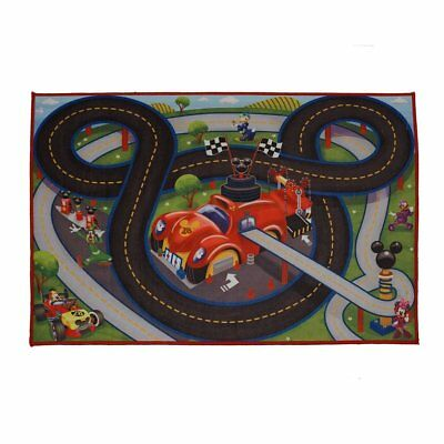 Disney Mickey Roadster Racers Toy Car Play Rug Race Track Kids Room Play Mat