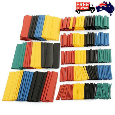 New 70/150/328Pcs Heat Shrink Tubing Assortment Cable Sleeving Tube Wrap 1-14mm