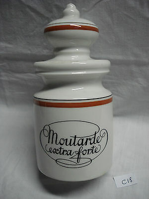 """cover pot covered porcelain Auteuil """"mustard"""" (ref C18)"""