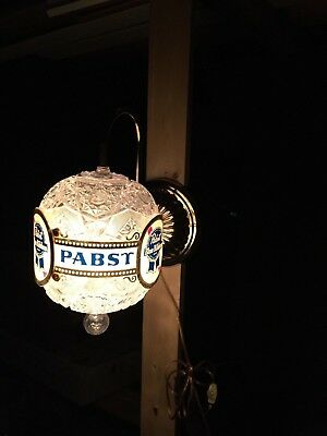Pabst Blue Ribbon Rotating Sconce Light Wall Mount Vintage