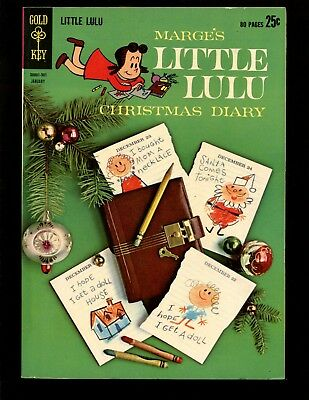 Marges Little Lulu #166 FNVF Giant Christmas Diary Photo Cover Tubby Alvin