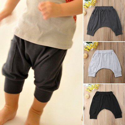 AU Casual Toddler Baby Kids Boy Cotton Bottom Pants Panty Harem Pants Trousers