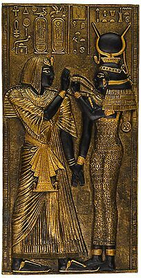 Ancient Egypt Egyptian Decor Goddess Isis Wall Sculpture Artwork African God Art