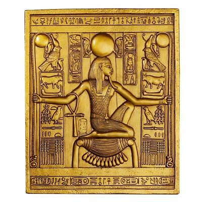 Boy King Tut Tutankhaten Tutankham Egyptian Pharaoh Wall Statue Hanging Artwork