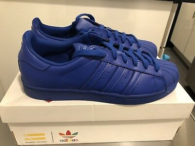 detailed look 73aaf 41bb9 ADIDAS SUPERSTAR SUPERCOLOR Pharrell Williams Bold Blue Size 7.5 Authentic