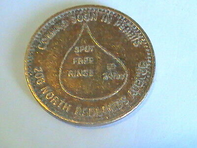 TOKEN Sun City  Car Wash  Token  Spot Free Rinse Bradley Road Redlands Avenue