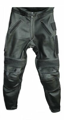 Custom Made Men's Black Leather Racing Motorcycle Pant CE Armor L-759