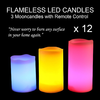 FH Waterproof LED Flameless Floating Candle Color Changing Home Decor Natural