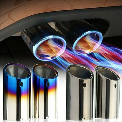 2x Stainless Steel Exhaust Tail Trim Muffler Pipe 97mm For VW Jetta MK6 Golf