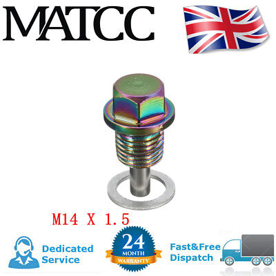 MAGNETIC OIL M14x1.5  DRAIN SUMP PLUG  FILTER ENGINE ADSORB BOLT CRUSH WASHER