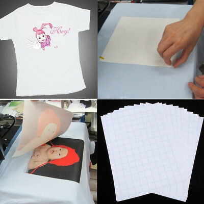 5pcs A4 Heat Transfer Art T-shirts Inkjet Iron-on Paper For Dark/light Fabric