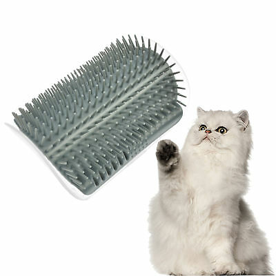 Creative Pet Cat Self Groomer Brush Wall Corner Grooming Massage Comb Cat Toys