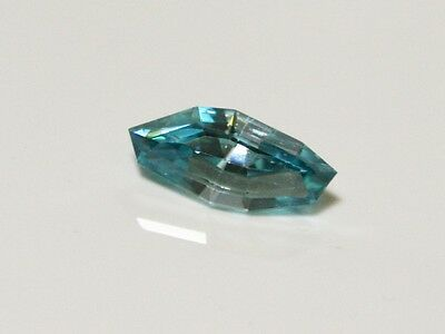 Natural earth-mined blue zircon quality gem 2.87 carat