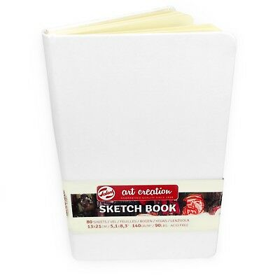 Royal Talens – Art Creation Hardback Sketchbook – 80 Sheets – 13 x 21cm - White