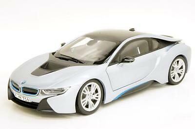 Bmw I8 Ionic Silver Matt Blue 1 18 Diecast Model Car By Paragon