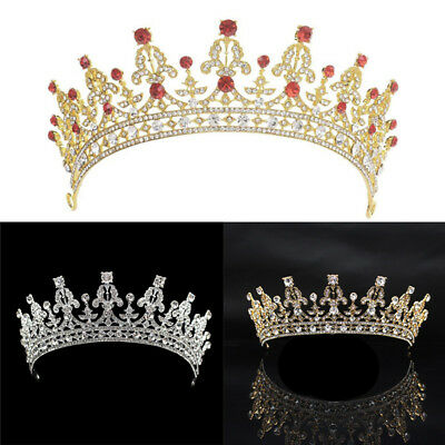 Women Tiaras Headwear Wedding Bridal Bridesmaid Crystal Crown Hair Headband UK